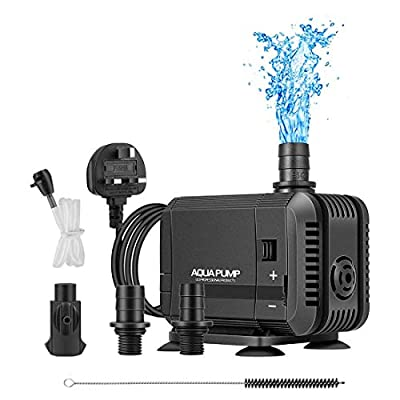 SOECE 400GPH Submersible Water Pump(15W 1500L/H),Ultra Quiet Aquarium Pump,Adjustable Fish Tank Pump,Fountain Water Pump With 2Nozzles&2Oxygen Nozzles For Fish Tank,Pond,Garden,Fountain,Hydroponics