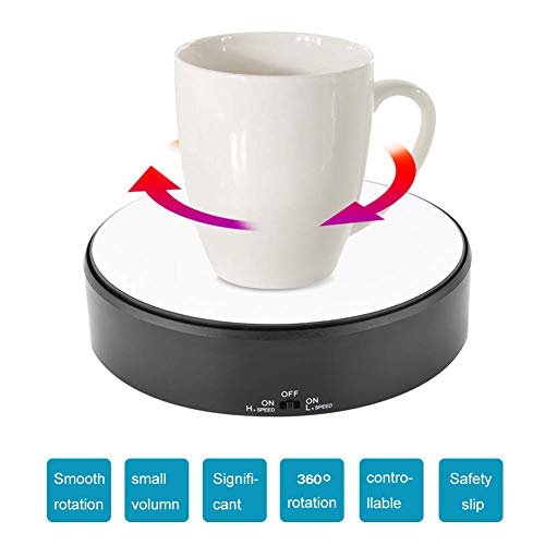 GOTOTOP Rotating Display Stand 360° Rotary Display Stand Adjustable Rotating Speed Turntable Jewelry Holder