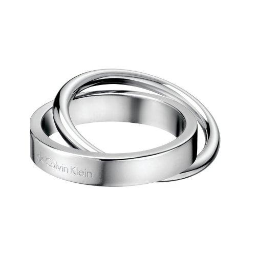 Calvin Klein - Anillo de Acero Inoxidable con ónice, Talla 26 (21,01 mm)