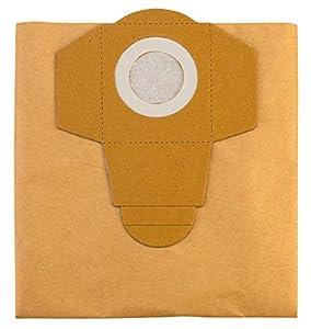 Einhell - Pack de 5 bolsas para aspiradoras (20 litros), color beige