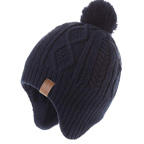 Monimo Jungen wintermütze Stricken Hut Verdicken Ohrenschützer Hut für Kinder