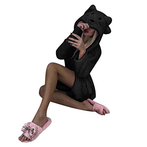 KEERADS Jumpsuit Erwachsene Faultier Kostüm Teddy Fleece Schlafanzug Onesie Overall...