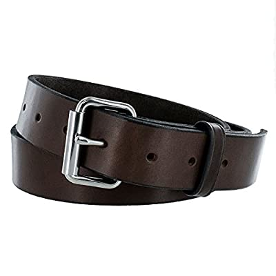 Hanks Gunner - USA Made Concealed Carry CCW Leather Gun Belt - 100 Year Warranty - 14 Ounce - Brown - 44