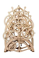 【High-Quality Material and Perfect Design】This is a perfectly designed DIY kit that requires your hands-on work to complete. This mechanical wooden puzzle toy uses precision laser cutting of high- quality plywood, which is safe and convenient. 【Detai...