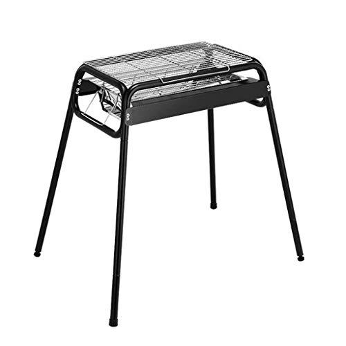 WYZXR Holzkohlegrill-Schreibtisch-Grill, justierbarer tragbarer Chromstahl-BBQ-Grill für das Kochen im Freien kampierendes wanderndes Picknick