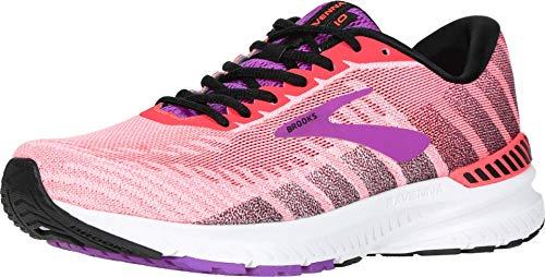 Brooks Womens Ravenna 10 Running Shoe - Coral/Purple/Black - B - 6.5
