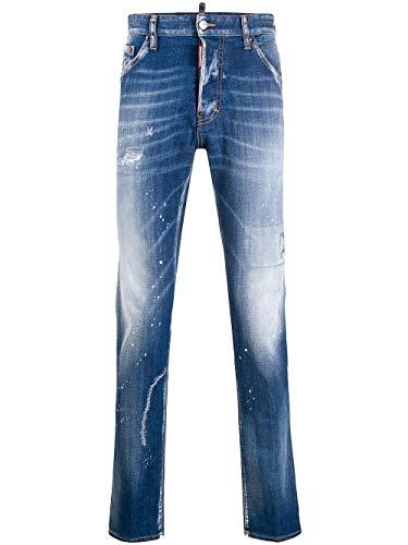 DSQUARED2 Luxury Fashion Herren S74LB0670S30342470 Blau Baumwolle Jeans   Ss21