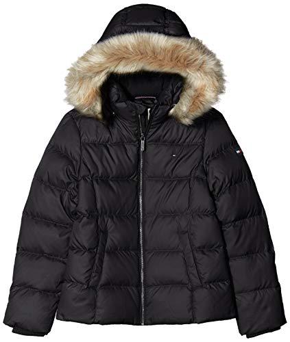 Tommy Hilfiger Mädchen Essential Down Jacket Jacke, Schwarz, 6