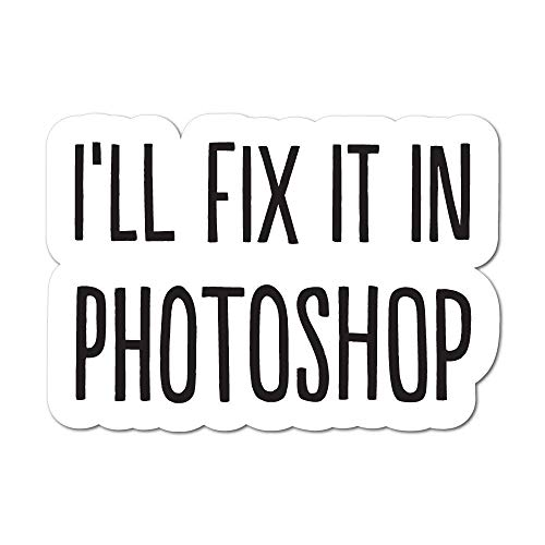 Umbrella Ink Ill Fix It In Photoshop Sticker Funny Photographer Camera Decal Car