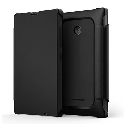 Nokia - flip Cover Blanc Pour Lumia 435 - Schwarz