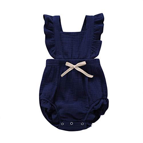 🔥0-24 Monat Kleinkind Baby Mädchen Junge Outfits Spitze Einfarbig Strampler Ärmellos Spielanzug Baby Toddler Baby Neugeborenes Kinderkleidung Allence