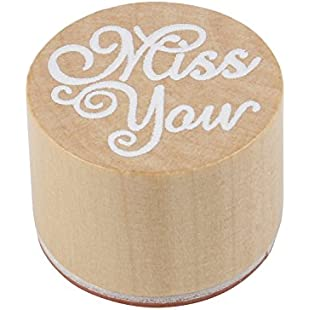 """TRIXES Valentine's Day Anniversary Love Letter Craft Rubber Stamp """"Miss You"""""""