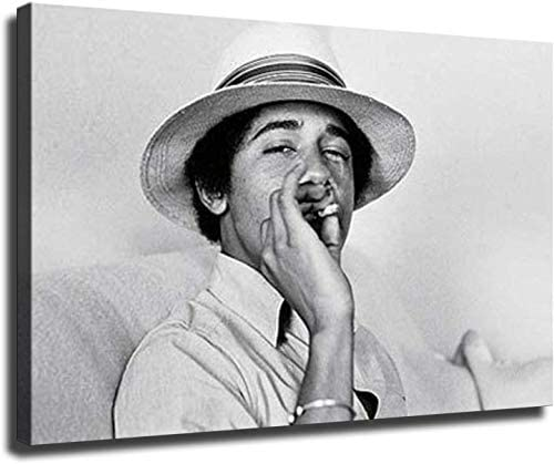 Young Barack Obama Smoking on Canvas Oil Painting Posters and Prints Decorations Wall Art Picture product image