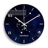 Usmnxo Reloj de Pared de Acuario de 12 Pulgadas, Reloj de Pared Digital silencioso, Reloj de Sala de Estar, decoración del hogar, Regalo sin Marco
