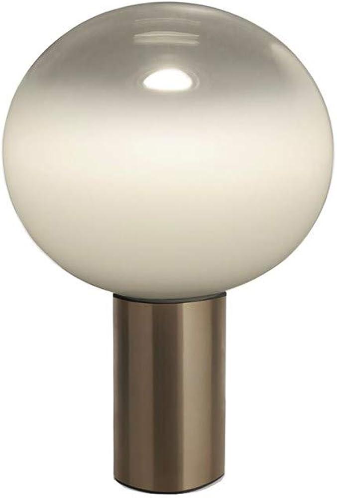 Artemide laguna 37, lampada da tavolo,in alluminio estruso,diffusore in vetro soffiato 1809160A