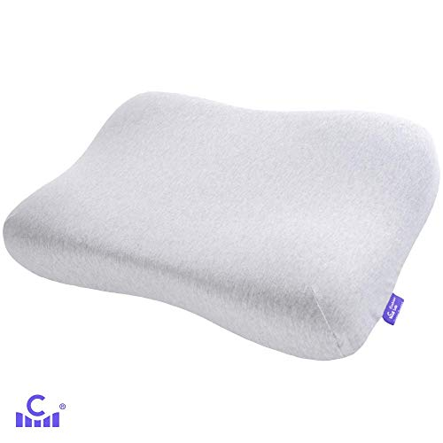 Cushion Lab Gel-Infused Contour Memory Foam Pillow for Sleeping - Conform Softly to The Head & Cradles Neck in Comfortable Soft Support, Ergonomic Design Cervical Pillow for All Sleepers, CertiPUR US