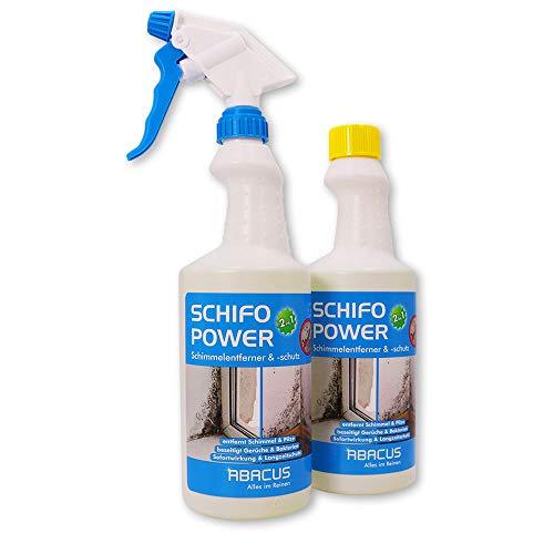 ABACUS 2x 750 ml Schifo Power Schimmelspray/Schimmelentferner/Schimmelschutz (7371)