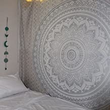 Popular Handicrafts Tapestry Hippie Mandala Bohemain Wall Hanging - Tapestries Gypsy Hippy Silver Wall Decor Indian Ombre Boho Dorm Room Decorative Accessories