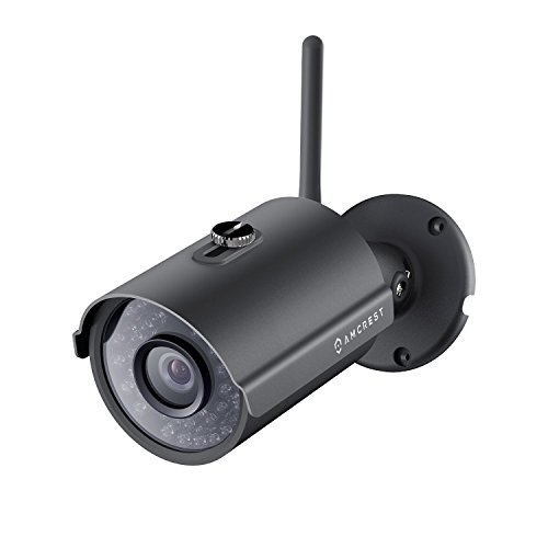 Amcrest IP2M-842B ProHD Outdoor 1080P Wi-Fi Wireless IP Security Bullet Camera, IP66 Weatherproof,...