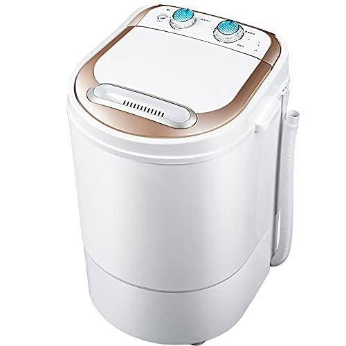 YXWxyj Lavadoras Mini Lavadora portátil,Lavadora semiautomática,con Control de Doble Perilla y Juego de Tiempo,3.5 kg de Lavado de Capacidad de Lavado 170W,Adecuado for baño de balcón de Dormitorio