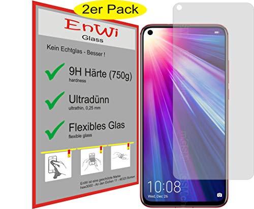 EnWi | 2X Panzer-Glas-Folie 9H Bildschirm-Schutz-Folie für Huawei Honor V20