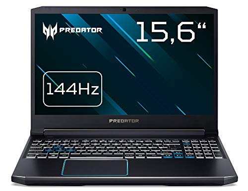 Acer Predator Helios 300 (PH315-52-71TW) 39,6 cm (15,6 Zoll Full-HD IPS 144 Hz matt) Gaming Laptop (Intel Core i7-9750H, 8GB RAM, 1.000GB PCIe SSD, GeForce GTX 1660Ti, Win 10 Home) schwarz/blau