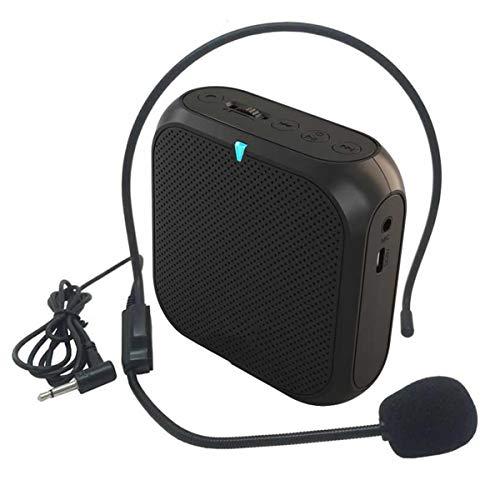 Riiai amplificador de voz con micrófono con cable, mini altavoz...