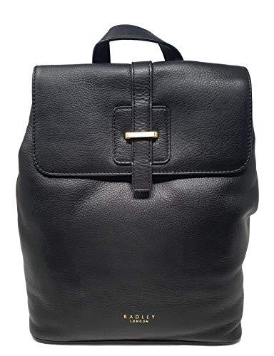 Radley 'Spellman Street' Leather Medium Flapover Backpack in Black