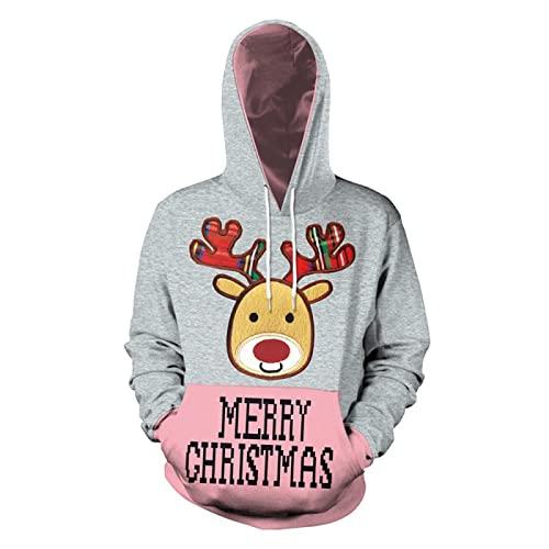 SSBZYES Suéter con Capucha para Hombre Sudadera De Gran Tamaño para Hombre Suéter De Moda De Papá Noel Ropa De Pareja Suéter Informal Suéter Chaqueta De Navidad
