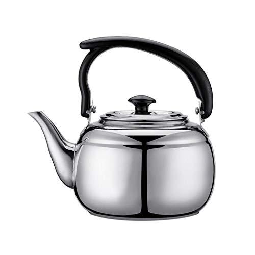 LbojailiAi - Cafetera pequeña, 1,2 L, acero inoxidable, jarra de café, hervidor de agua, para casa, restaurante, oficina y exterior, color plateado
