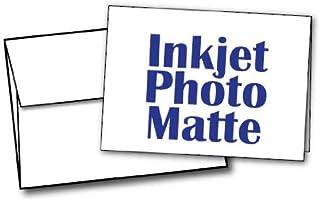 """5"""" X 7"""" - Blank Inkjet Photo Matte Card Sets - 40 Cards & Envelopes"""
