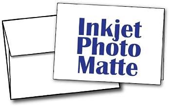 """5"""" X 7"""" – Blank Inkjet Photo Matte Card Sets – 40 Cards & Envelopes"""