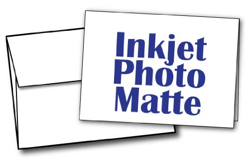 5' X 7' - Blank Inkjet Photo Matte Card Sets - 40 Cards & Envelopes