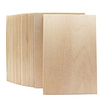 20 PCS Wood Sheets 150x100x2mm,Unfinished Plywood Basswood Sheet,for Architectural Model min House Building, Wood Burning Project and Other DIY Crafts
