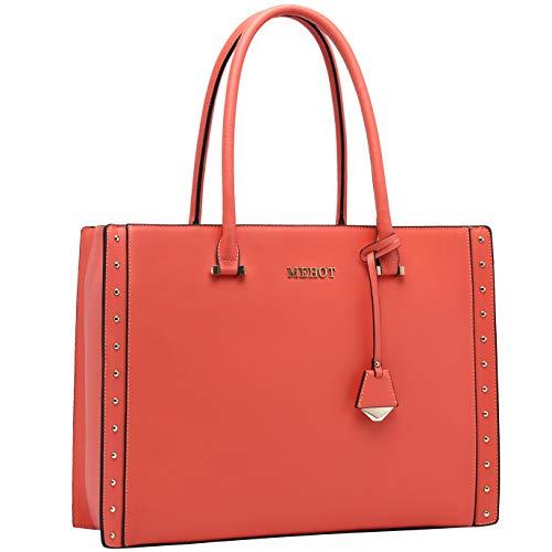 Laptop-Bag-for-Women-15.6 Inch Laptop Tote Bag Large Computer Bag Business Shoulder Bag with Multi-Pockets for Office Work School