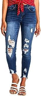 Resfeber Women's Boyfriend Jeans Distressed Slim Fit...