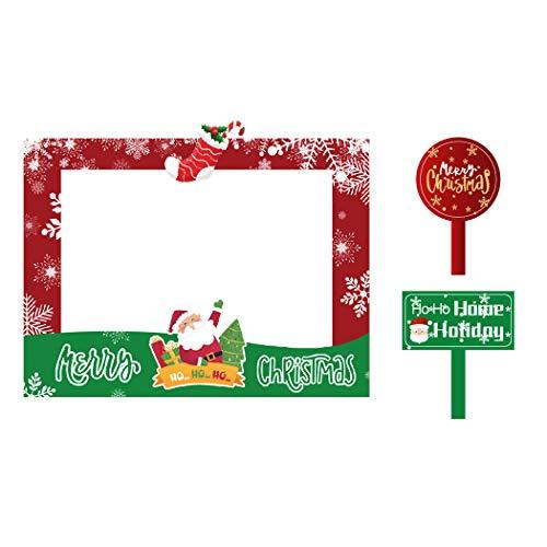 FunPa Foto Props Cornice per Selfie di Natale Moda Creativa Divertente Photo Booth Prop Photo Booth Frame