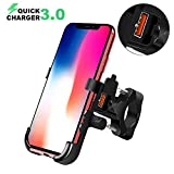 BlueFire Motorcycle Phone Mount IPX6 Waterproof Cell Phone Holder 360°Adjustable Motorbike Handlebar Phone