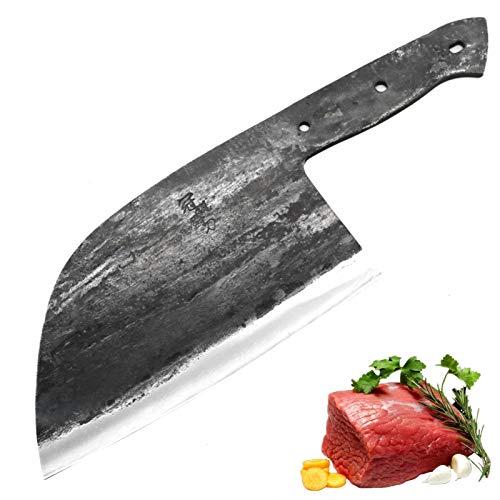 Cuchillo de chef forjado hecho a mano de 2 capas CLAD CLAD Forjado Chino China DIY Blade en blanco Cuchillos de cocina Verduras de carne Cuchillo de herramientas de corte para cocinar juego de cuchill