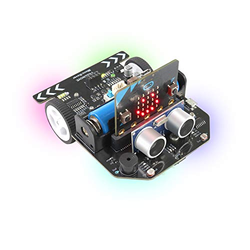 Freenove Micro:Rover Kit for BBC Micro:bit (Contained), Detailed Tutorials with Rich Projects, Blocks and Python Code, Multiple Modes, microbit School Study Project Robot Car