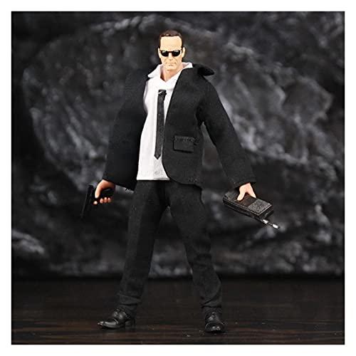 JJSCCMDZ Figuras de acción 6'Figura de acción Agentes de Nick Partner Película TV Legends Black Traje Juguetes Muñeca Modelo de muñeca