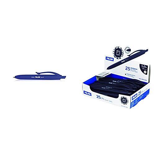 Milan 936011 - Bolígrafo, color azul, pack de 40 unidades + 176511925 - Bolígrafo de punta redonda, 25 unidades