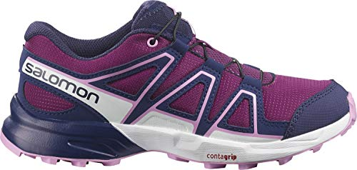 Salomon Kinder Speedcross, Schuhe für Trail Running und Outdoor-Aktivitäten Violett (Plum Caspia/Evening Blue/Orchid), 37 EU