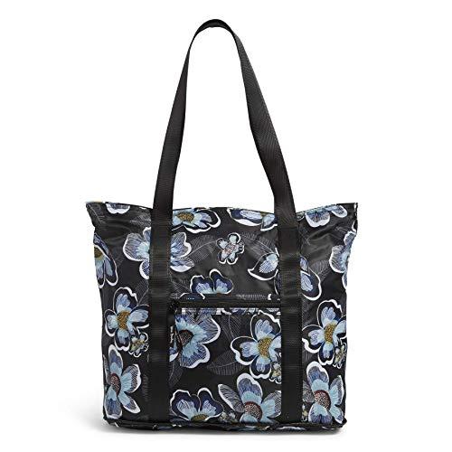 Vera Bradley Packable Tote Bag, Blooms Shower Black
