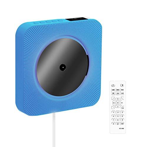 Lettore CD Portatile con Altoparlanti HIFI Integrati Parete Bluetooth, Boombox Audio per Casa con Telecomando Radio Fm USB MP3 Cuffie da 3,5mm Ingresso uscita Aux con Interruttore Tirante
