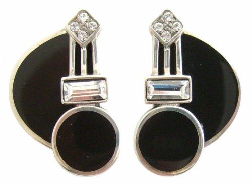 Damen Art Deco Ohrringe Ohrstecker 925 Silber zeitlos