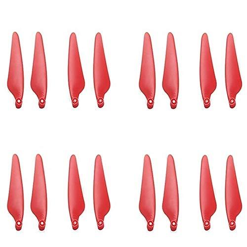 YJDTYM 16 Piezas de hélice/Ajuste para Hubsan Zino Pro Zino 2 H117S Accesorios aeronáuticos de Cuatro Ejes Aéreo Aéreo Remoto Drone CW CCW Pala (Color : Red)