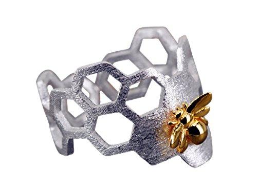 NicoWerk Silberring NATUR Ring Silber 925 Verstellbar Damenringe Damen Schmuck 221