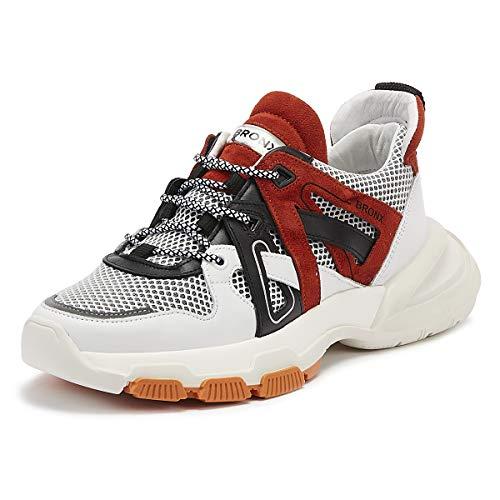 Bronx Seventy Street Damen Off Weiß Chunky Sneakers-UK 6 / EU 39