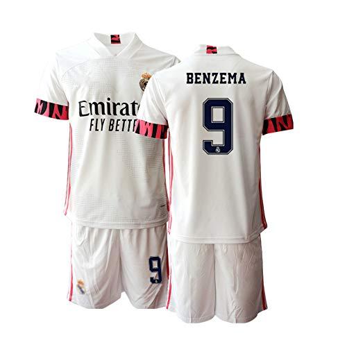 JEEG 20/21 Herren Benzema 9# Fußball Trikot Fans Jersey Trainings Trikots (M)
